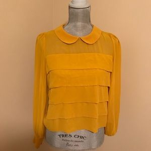 Forever 21 yellow blouse SMALL